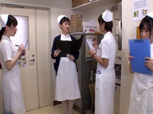 Naughty Nurse Boycotts Duty Just To Fuck Two Thick Cocks In A Compilation Scene