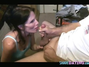 Ugly Slut Knows How To Keep Her Man Around