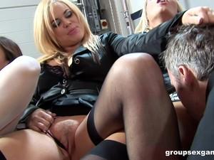Leder,Nylon,Orgie