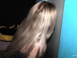 MY FIRST TIME IN A GLORYHOLE - A Finnish Girl Discovering Gloryhole
