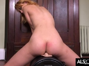 Hot Russian Redhead Takes Sybian For Ride Of Her Life