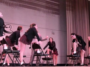 Hot Teens In Tiny Skirts Show Off Their Singing And Dancing
