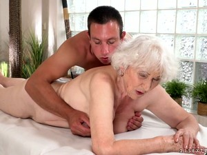 Disgusting Awful Wrinkled Oldie Norma Gets Fucked From Behind Quite Hard