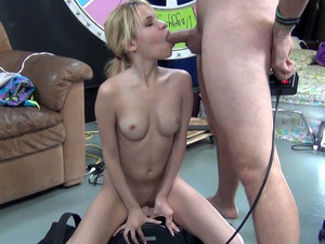 Blonde Cutie In Socks Mae Olsen Rides A Sybian With Pleasure