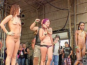 Super Hot Sproty Biker Chick Contest At The 2015 Abate Of Iowa Freedom Rally - NebraskaCoeds