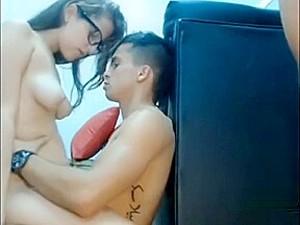 Hidden Cam Filmed Slutty Teen Girl Gettting Her Pussy Drilled By Two Horny Guys