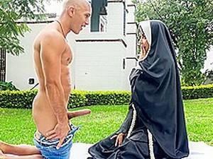 Erik Klein & Yudi Pineda In Dirty Nun Fucks The Gardener - BangBros