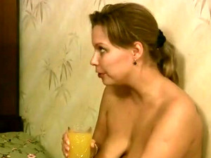 Voluptuous Russian Ugly Bitch Sits All Naked To Her BF And Talks