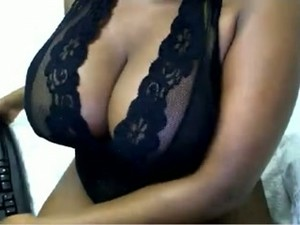 I Bet This Ebony Slut With Huge Melons Knows How To Give A Good Titjob