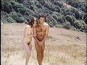 Classical Nude Couple Have Fun In Public Beach