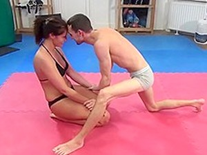 Mixed Wrestling Domination Hot Girl