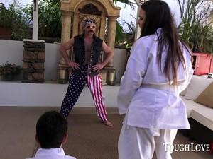Scarlet De Sade Gets Karl Kwon Do Lessons