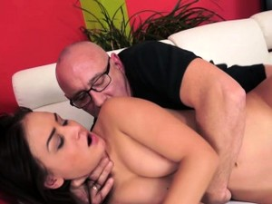 Horny Grandpa Loves Teen Pussy