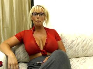 Massive Tits Alura Jenson Makes A Dildo Disappears In Her Decolletage