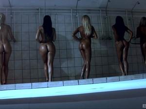 臀部,群交,蕾丝边,淋浴