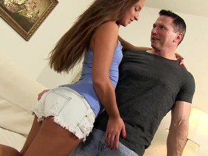 Sexy Horny Brunette Teen With Piercing Only Thinks About Coupling
