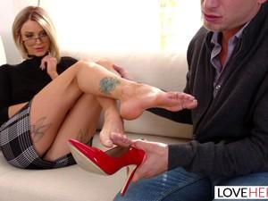 脚,鞋跟,老师