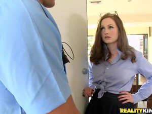 Redhead Slut Gets Fucked In Her Pussy