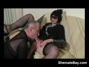 Crossdresser And An Old Cock