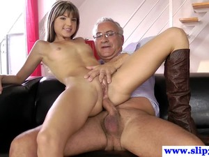 British Teen Ass Drilled Deeply By Old Man