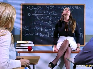 Principal Fucks A Teacher And Her Favorite Student In A Threesome