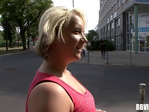 Chubby Blonde With Ugly Tits Sucks And Fucks A Big Hard Cock